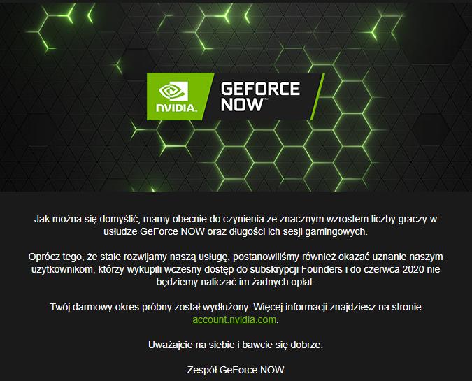 GeForce NOW za darmo do czerwca. Usługa zyskała i straciła też sporo świetnych produkcji