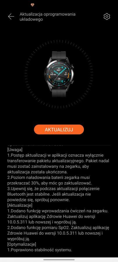 Huawei Watch GT 2e update 1.0.1.20 April 2020