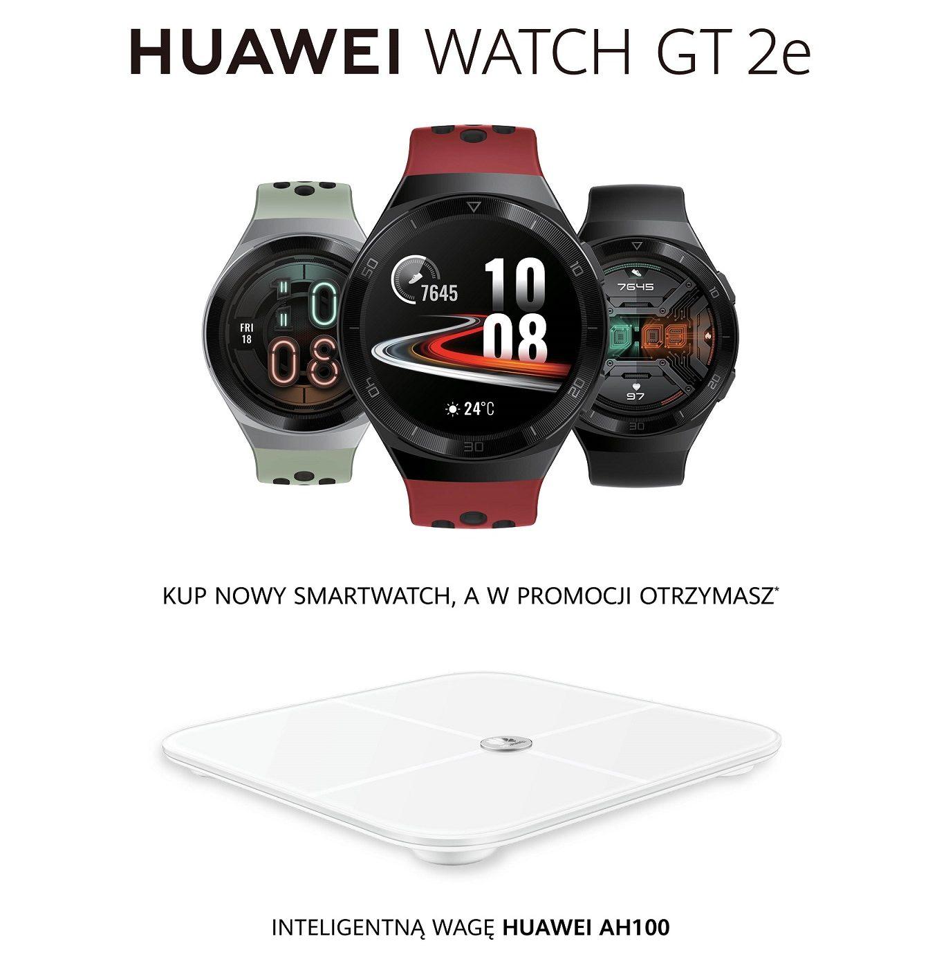 Huawei Watch GT 2e - rusza sprzedaż razem z wagą, która zmobilizuje do ćwiczeń w domu