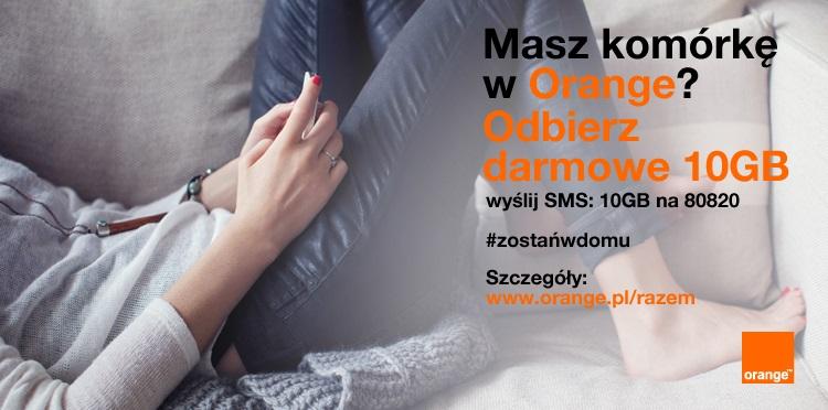Orange znowu daje swoim klientom po 10 GB internetu. Będzie też pakiet dla nju mobile