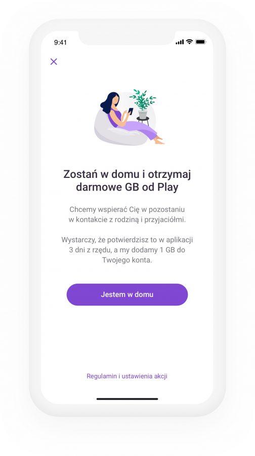 Dostaniesz 10 GB internetu za darmo od Play, jeśli zostaniesz w domu