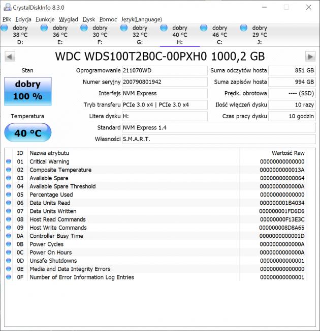 Dysk SSD Western Digital Blue SN550 - solidny średniak 49