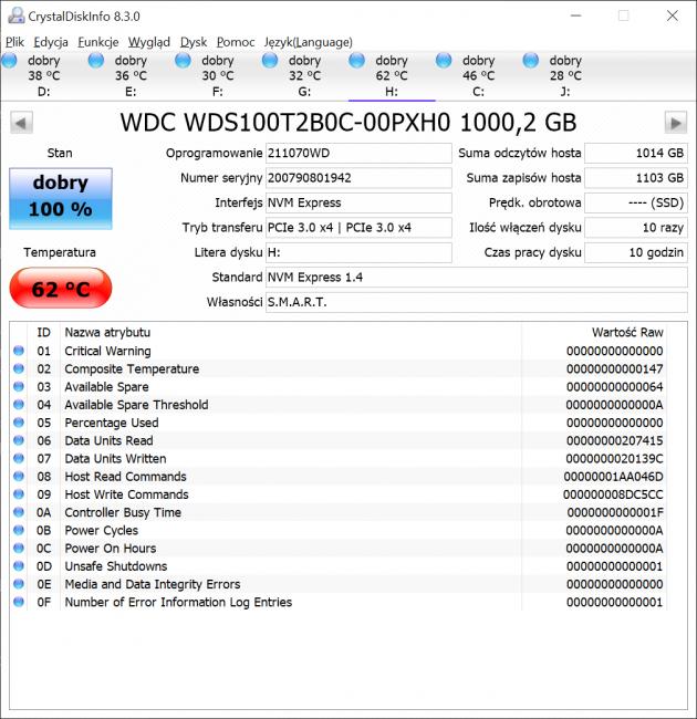 Dysk SSD Western Digital Blue SN550 - solidny średniak 50