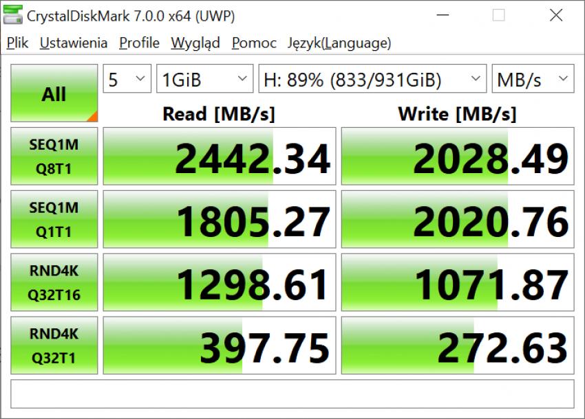 Dysk SSD Western Digital Blue SN550 - solidny średniak 37