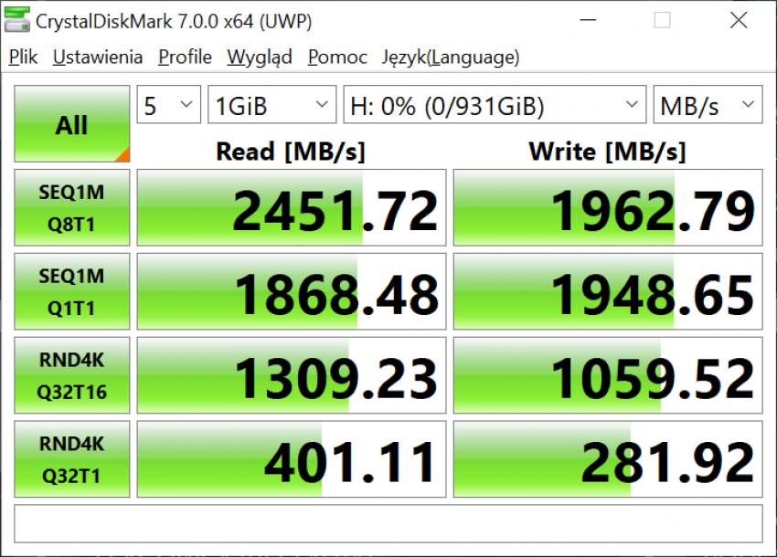 Dysk SSD Western Digital Blue SN550 - solidny średniak 23