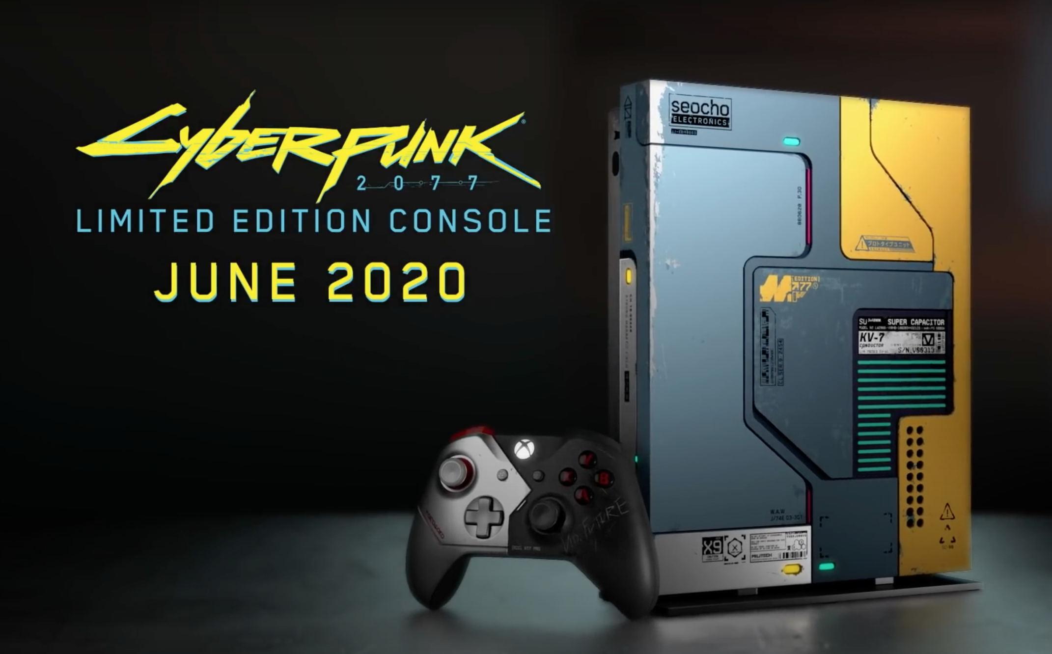 Xbox One X otrzyma przepiękną limitowaną wersję, inspirowaną grą Cyberpunk 2077 20