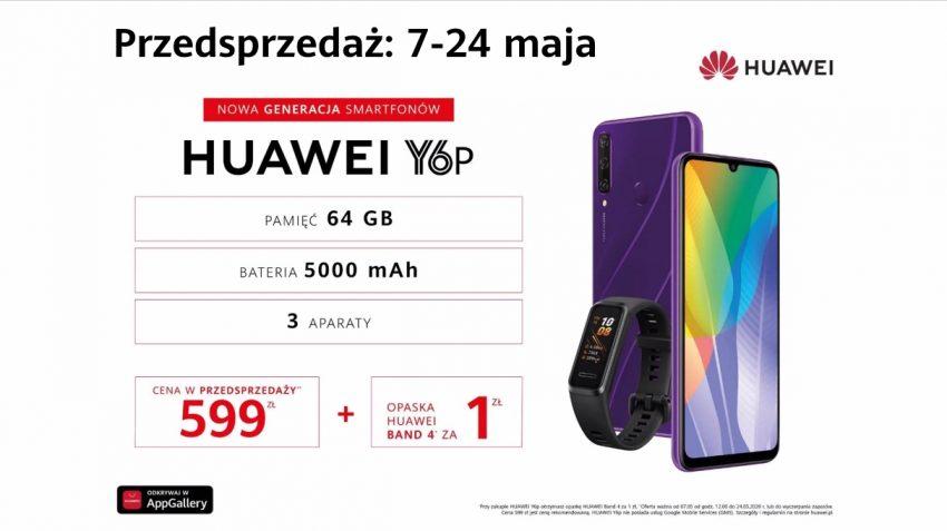 Huawei Y6p - nowy budżetowy smartfon od Huawei z NFC i baterią 5000 mAh