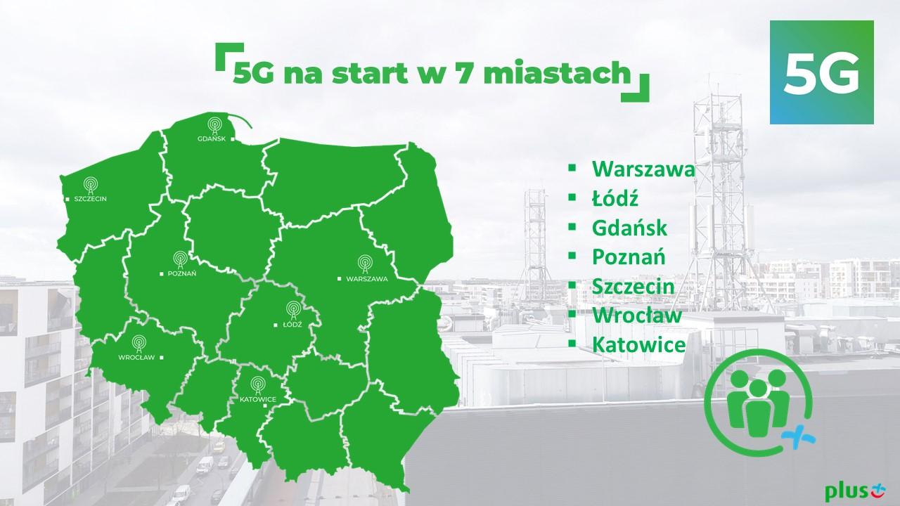 Plus uruchamia pierwszą komercyjną sieć 5G (2,6 GHz) w 7 miastach w Polsce! 16