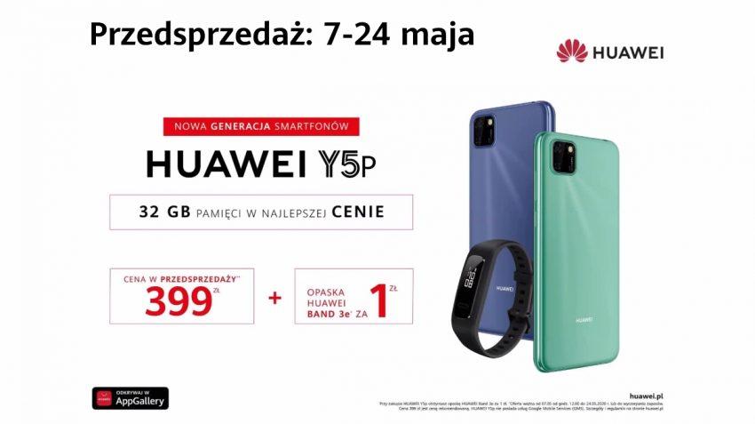Huawei Y5p - nowy budżetowy smartfon od Huawei dla niewymagających