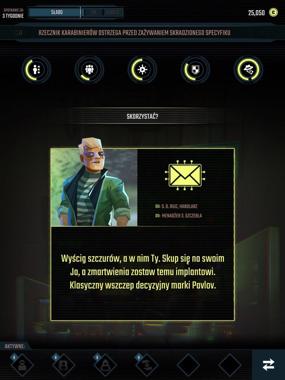 InfiniteCorp Cyberpunk Decision Based Card Game Recenzja Screenshot