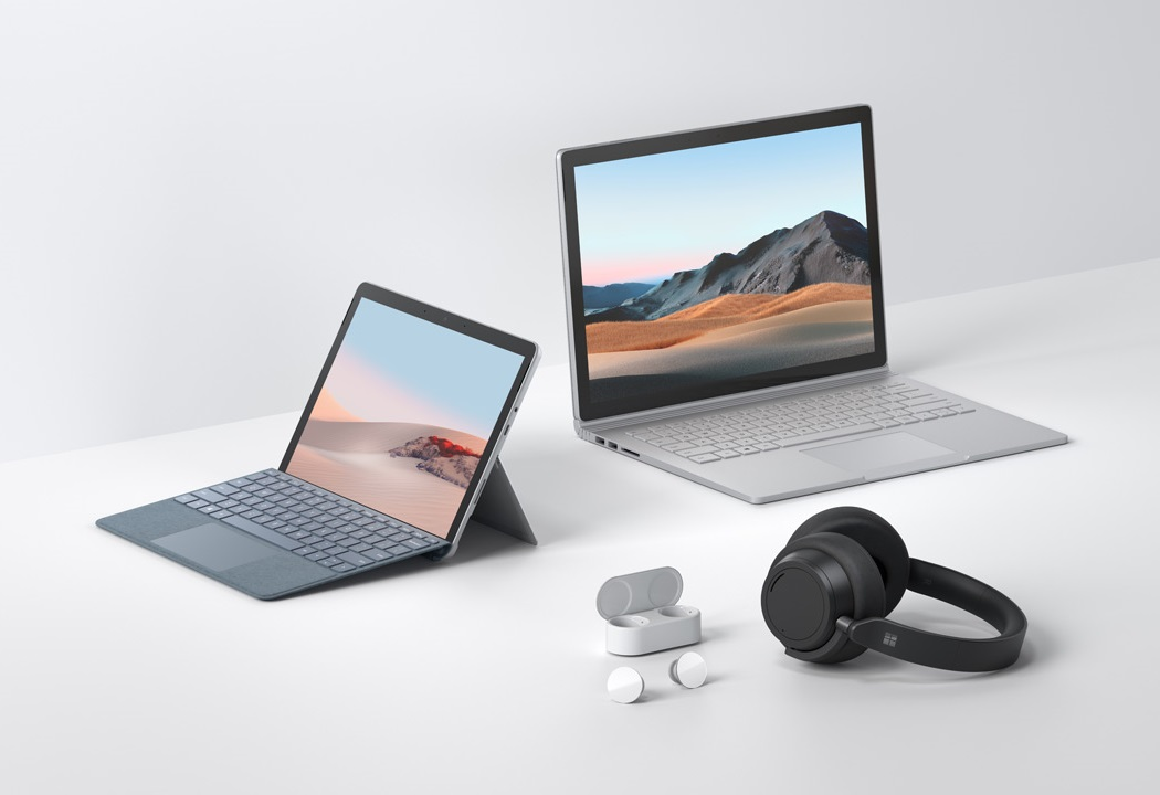 Microsoft Surface Book 3 Surface Go 2 Surface Headphones 2 Surface Earbuds