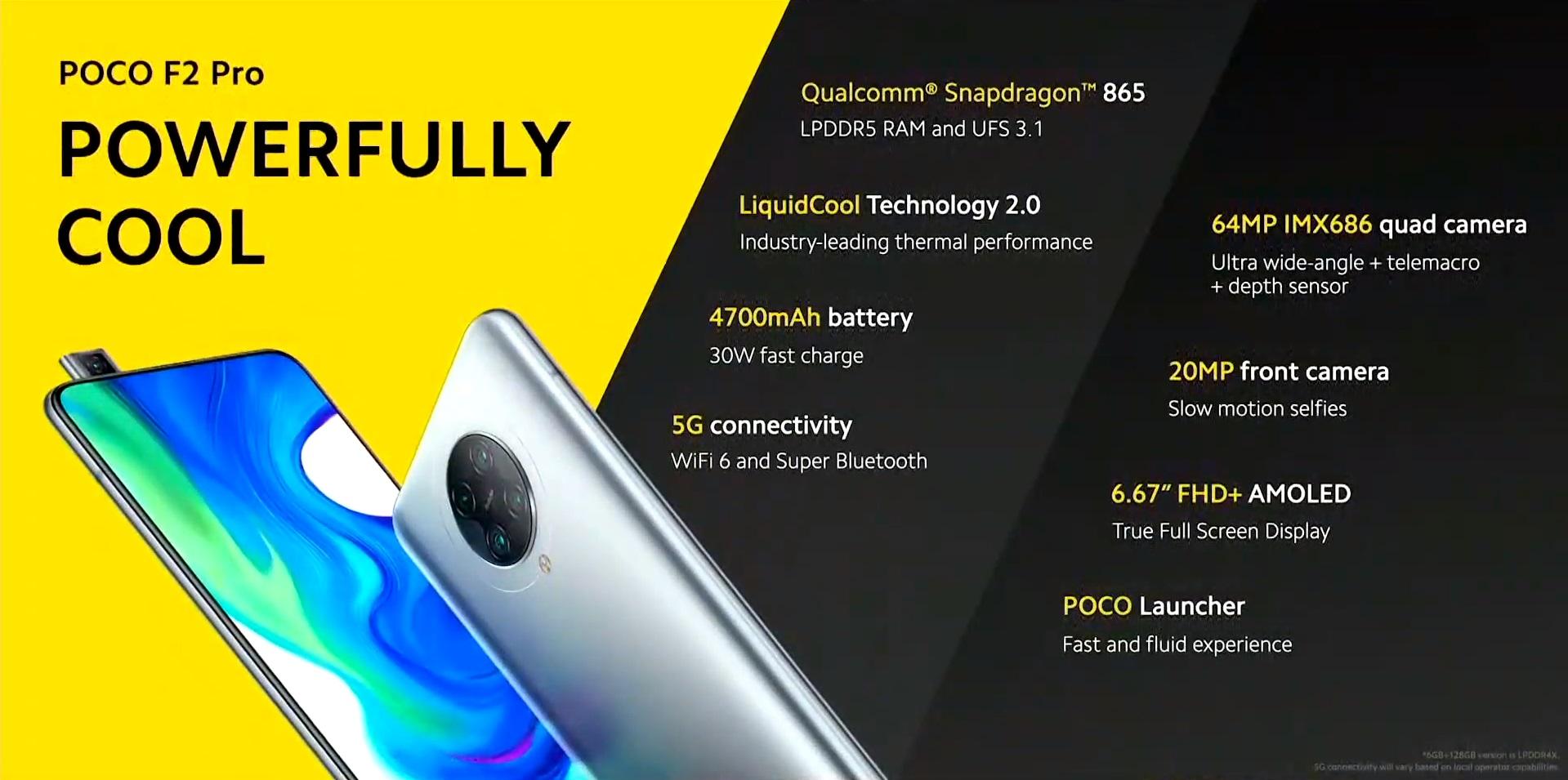 POCO F2 Pro smartphone