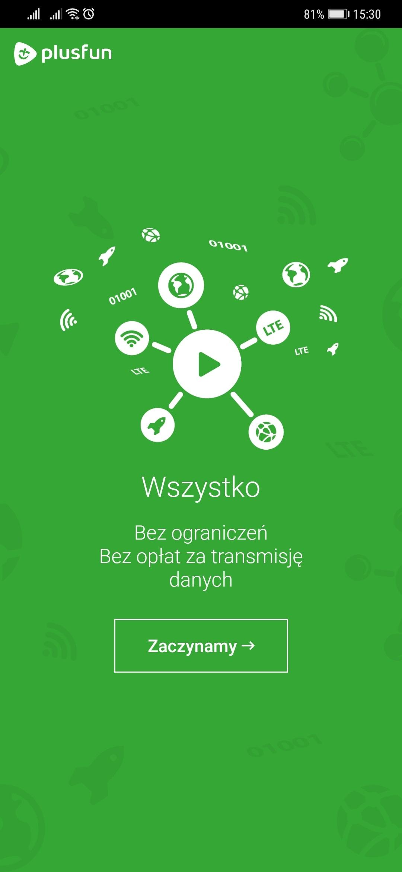 aplikacja Plus Fun konfiguracja