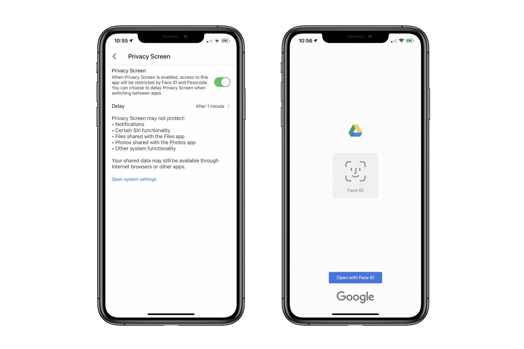 Dysk Google na iOS z dodatkowym, biometrycznym zabezpieczeniem