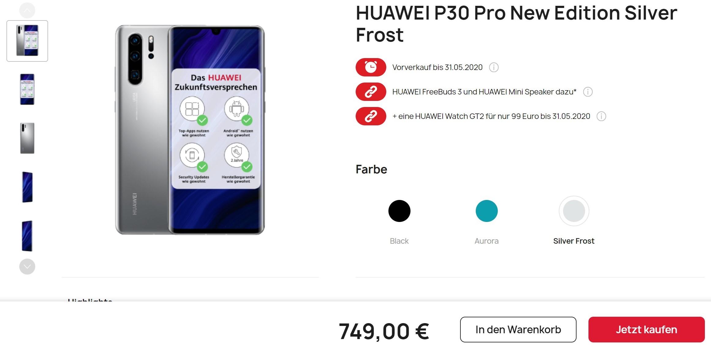 """Można już kupić Huawei P30 Pro New Edition. """"Nowości"""" tu jednak nie ma za grosz"""