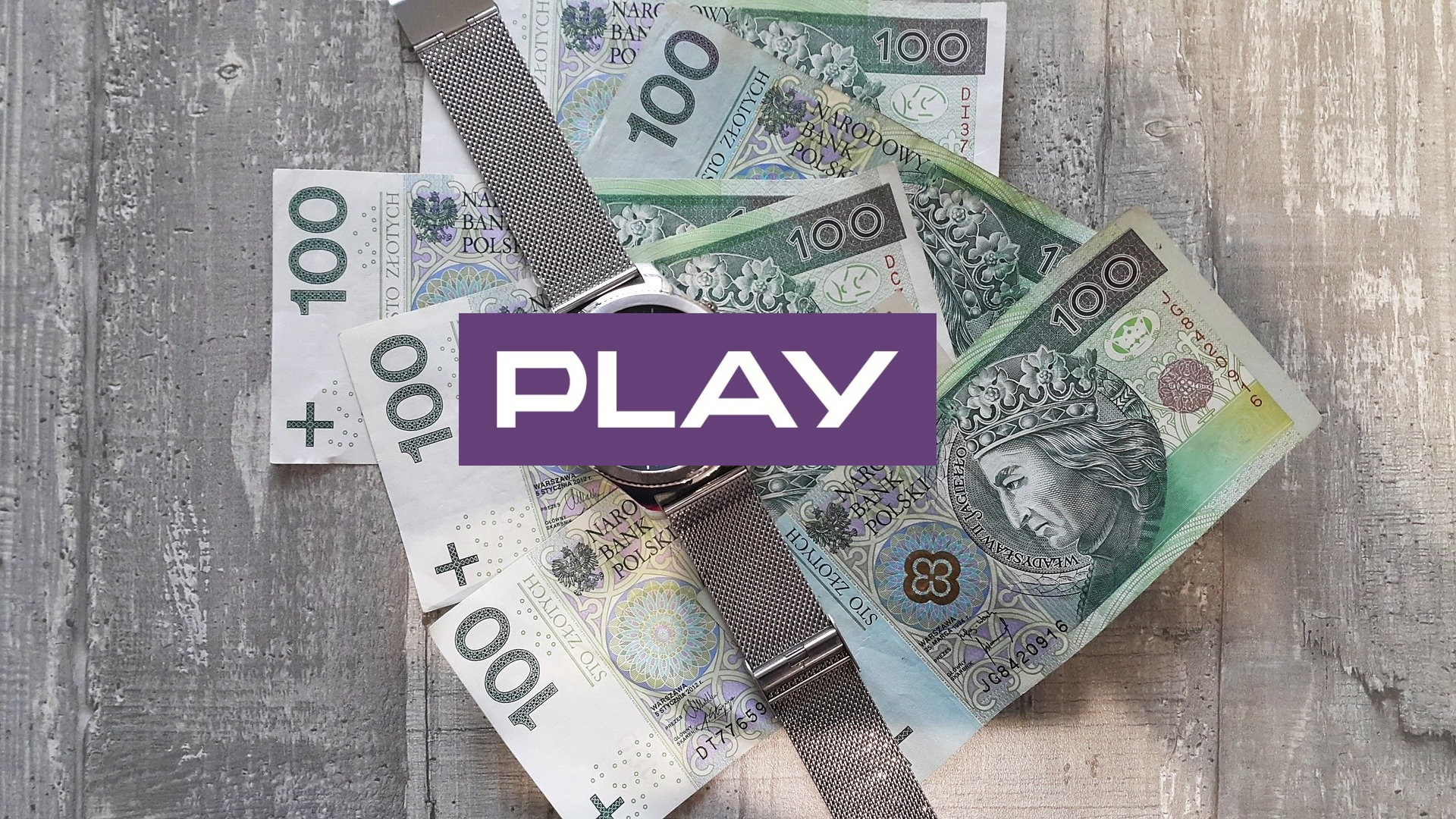Play logo money pieniądze kasa