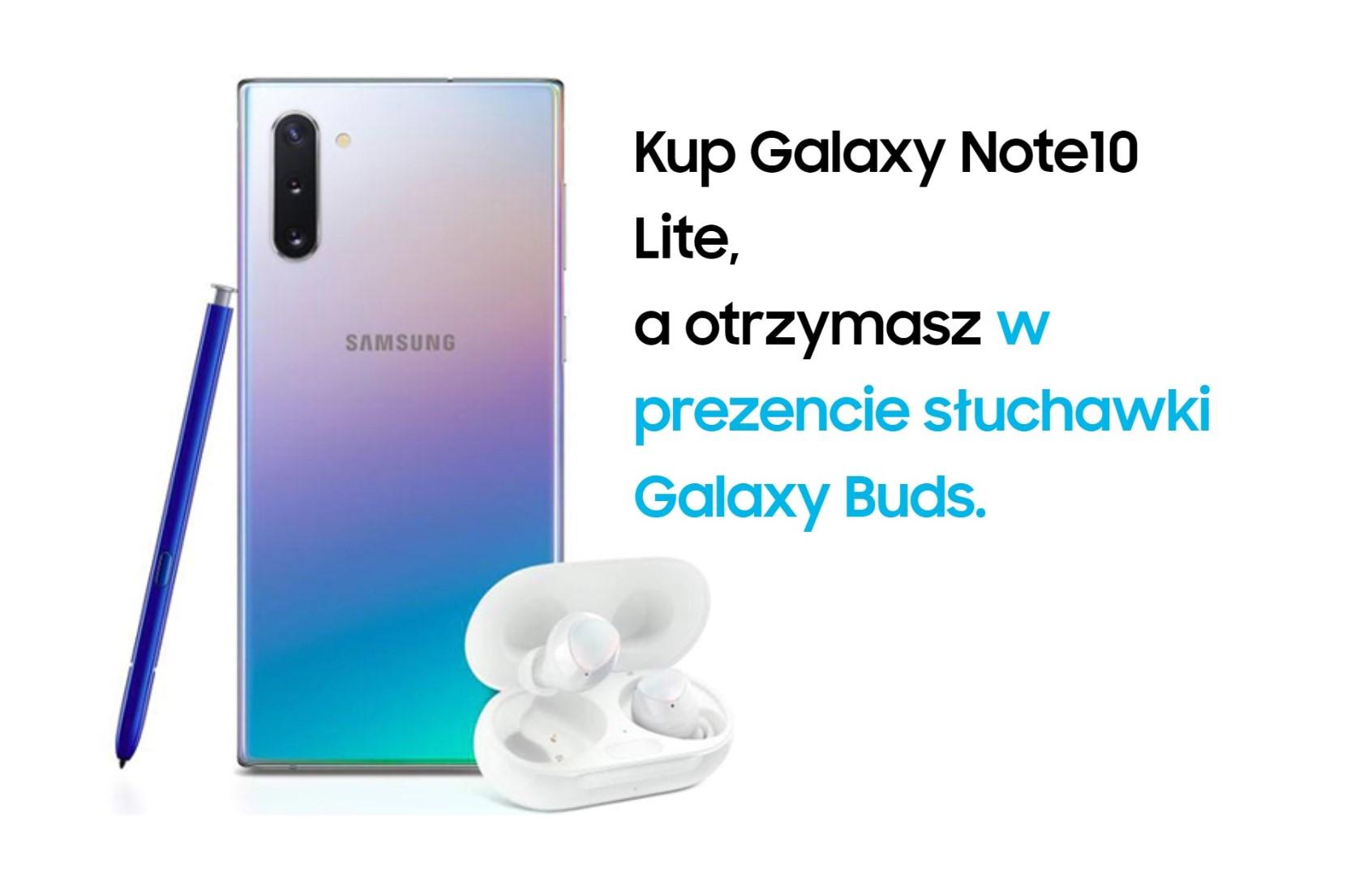 Samsung dorzuca do Galaxy Note 10 Lite słuchawki Galaxy Buds, jeśli kupisz go u operatora 18