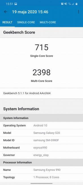 Samsung Galaxy S20 - najmniejszy z serii, choć wcale nie mały (recenzja) 99