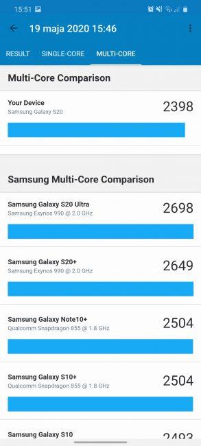 Samsung Galaxy S20 - najmniejszy z serii, choć wcale nie mały (recenzja) 101