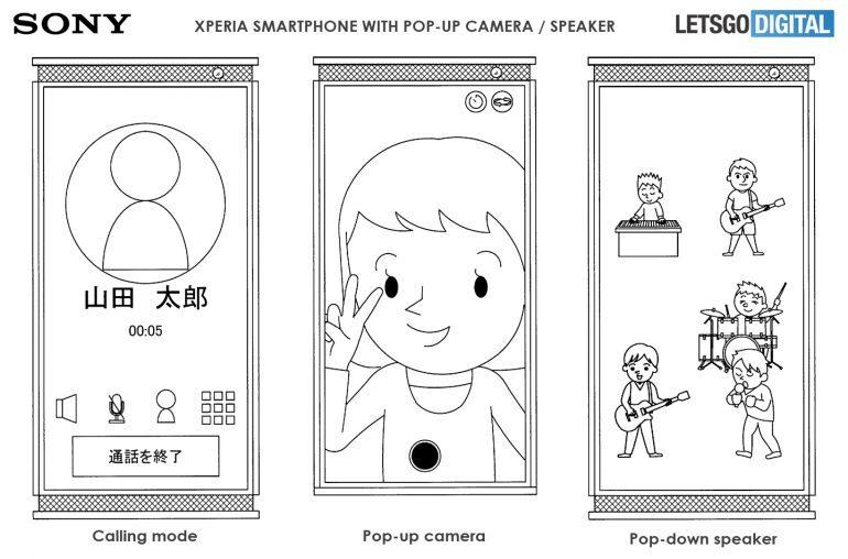 Wysuwane głośniczki stereo w smartfonie Sony? Dobrze, że to tylko patent