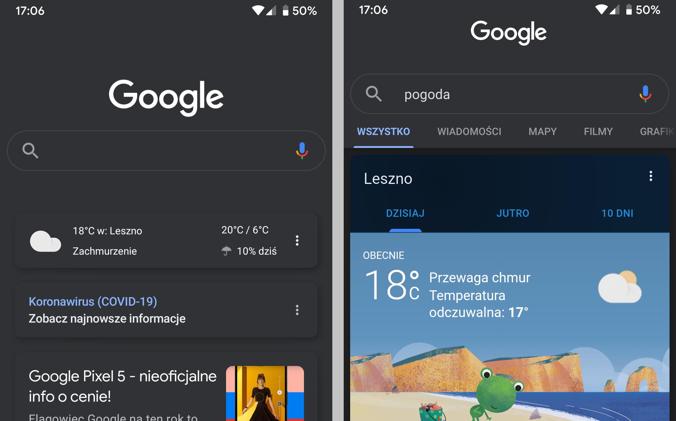 Tryb ciemny w aplikacji Google wreszcie zaczyna działać na Androidzie 10 i iOS 17