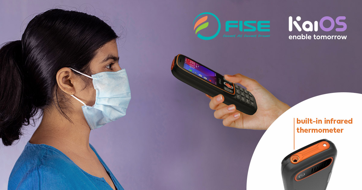 FISE KaiOS phone thermometer