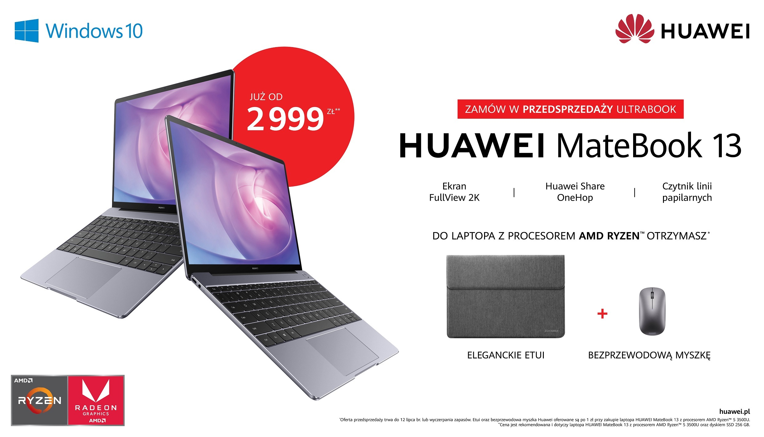 Huawei MateBook 13 AMD Ryzen 5 3500U laptop