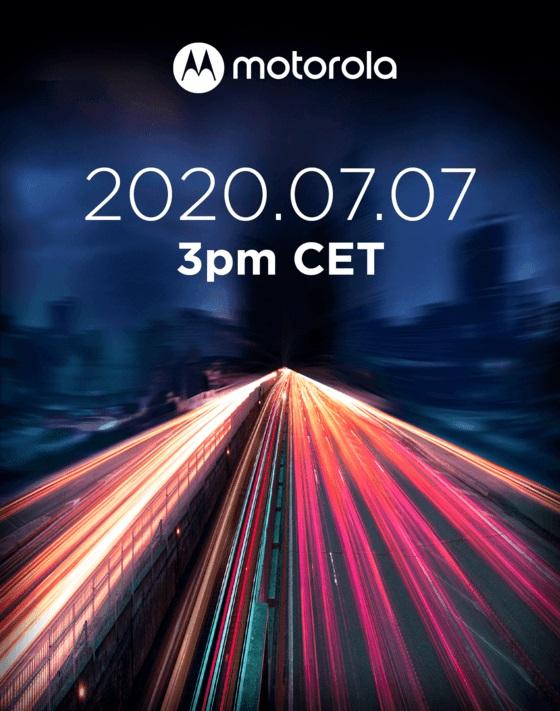 Motorola Edge Lite launch event invitation