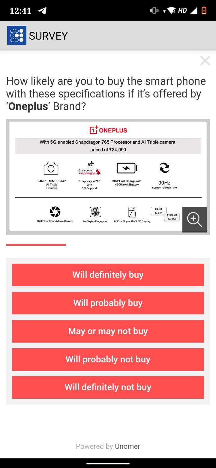 OnePlus Z survey