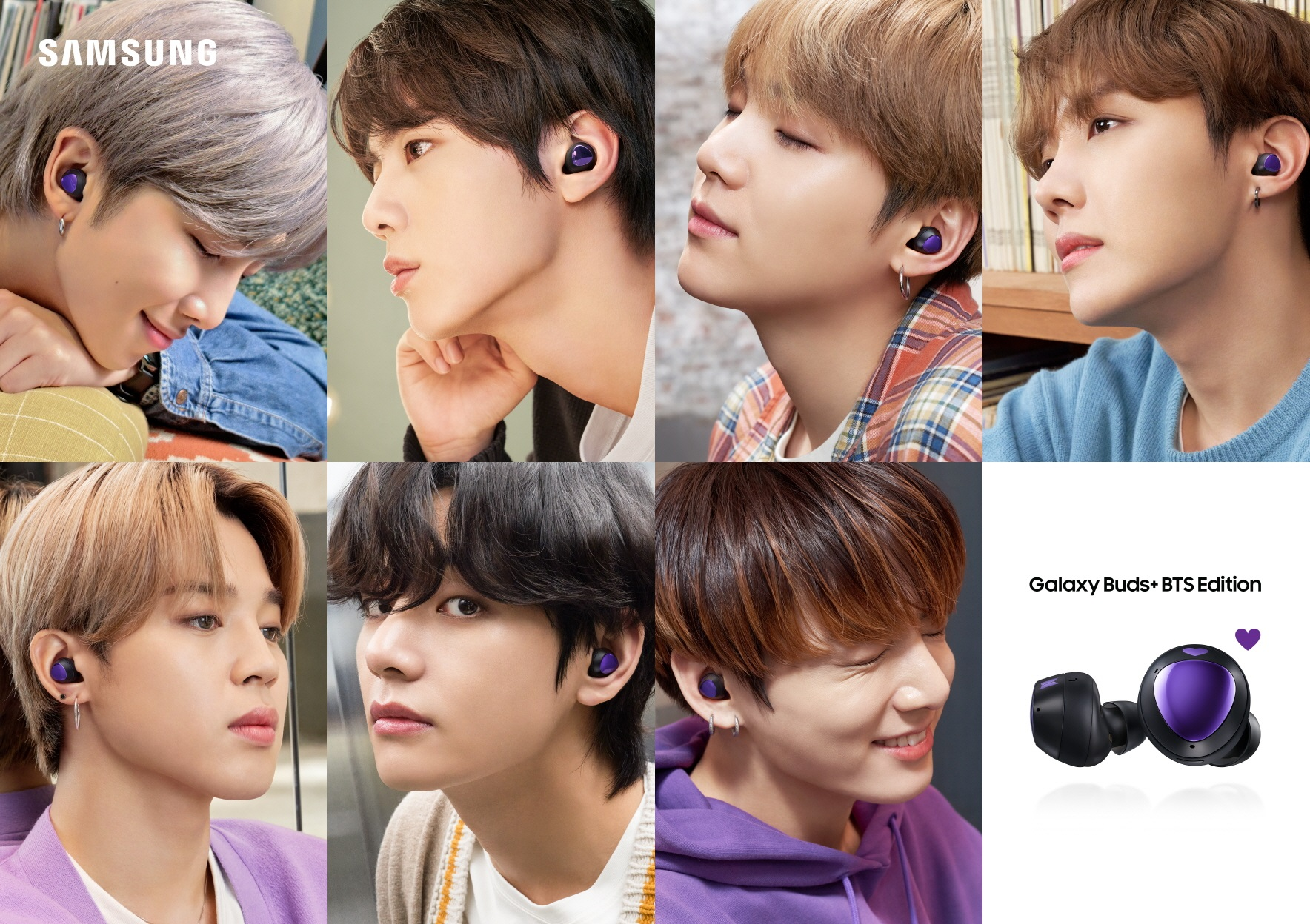 Samsung Galaxy Buds+ BTS Edition TWS earphones