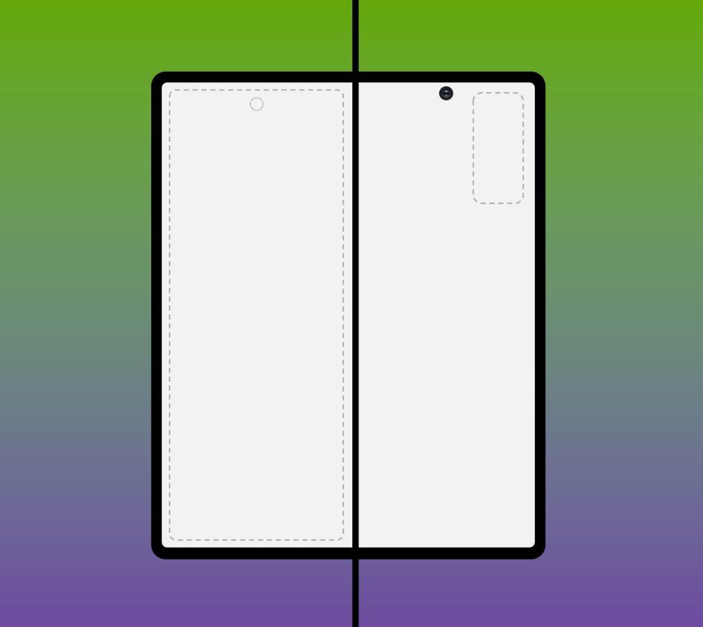 Samsung Galaxy Fold 2 smartphone render
