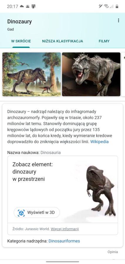Najlepszy prezent od Google dla człowieka wychowanego na Parku Jurajskim. Dinozaury w AR! 21