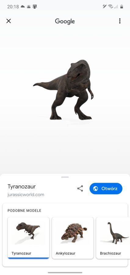 Najlepszy prezent od Google dla człowieka wychowanego na Parku Jurajskim. Dinozaury w AR! 22
