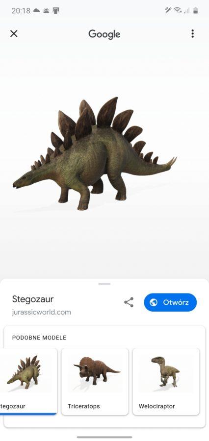 Najlepszy prezent od Google dla człowieka wychowanego na Parku Jurajskim. Dinozaury w AR! 23