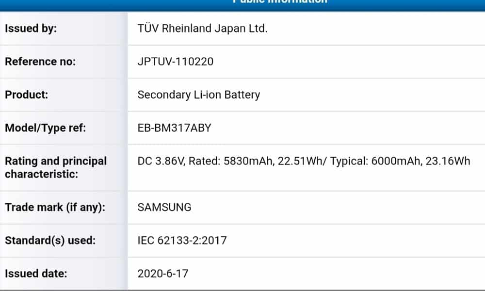 Samsung zrozumiał, że potrzebujemy dużych baterii w smartfonach. Galaxy M31s będzie taką miał 18 galaxy m31s