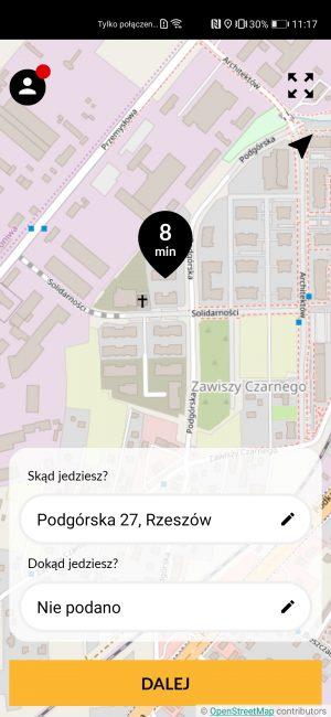 Nareszcie jakaś działająca aplikacja do zamawiania taksówek na nowe smartfony Huawei 24