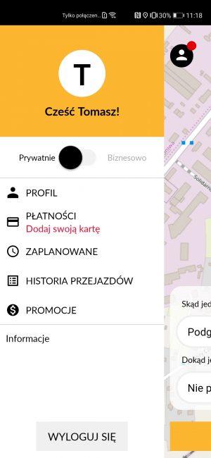 Nareszcie jakaś działająca aplikacja do zamawiania taksówek na nowe smartfony Huawei 25