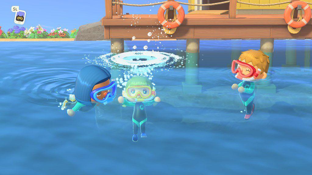 Nurkowanie w Animal Crossing