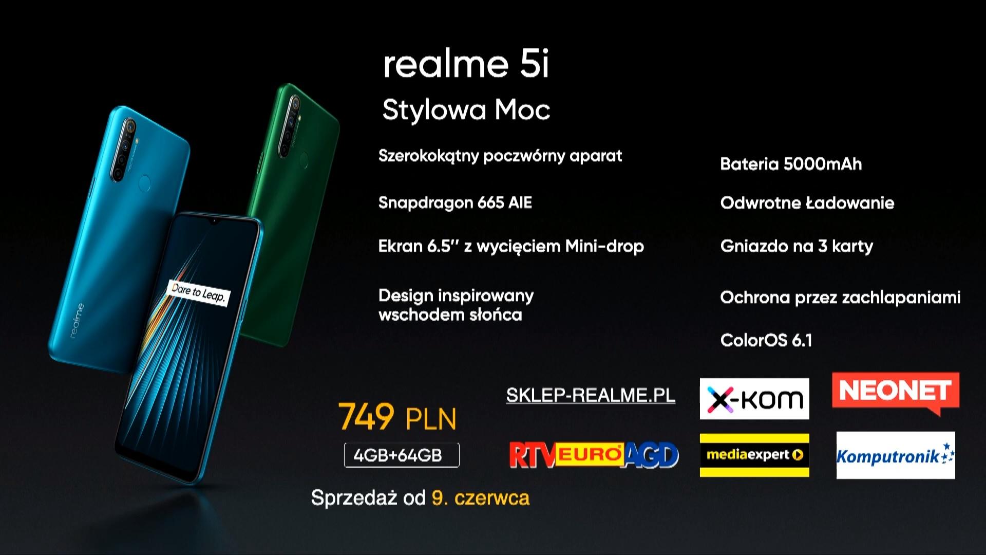 realme 5i price Poland