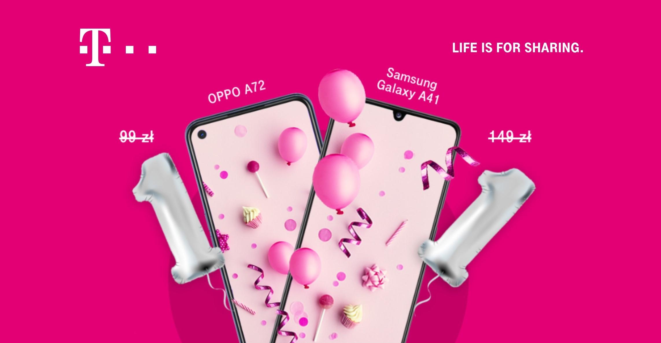 Specjalne ceny smartfonów w sklepie T-Mobile - więcej okazji za 1 zł