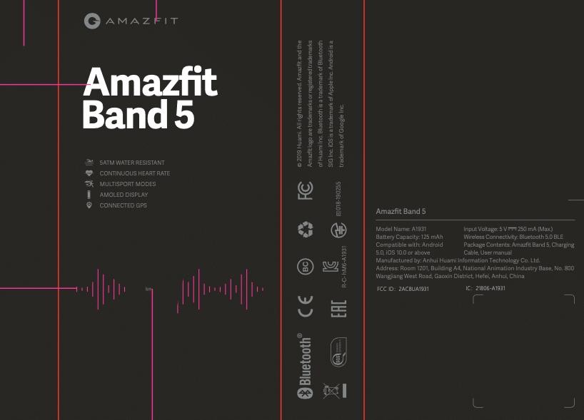 Amazfit Band 5 pudełko
