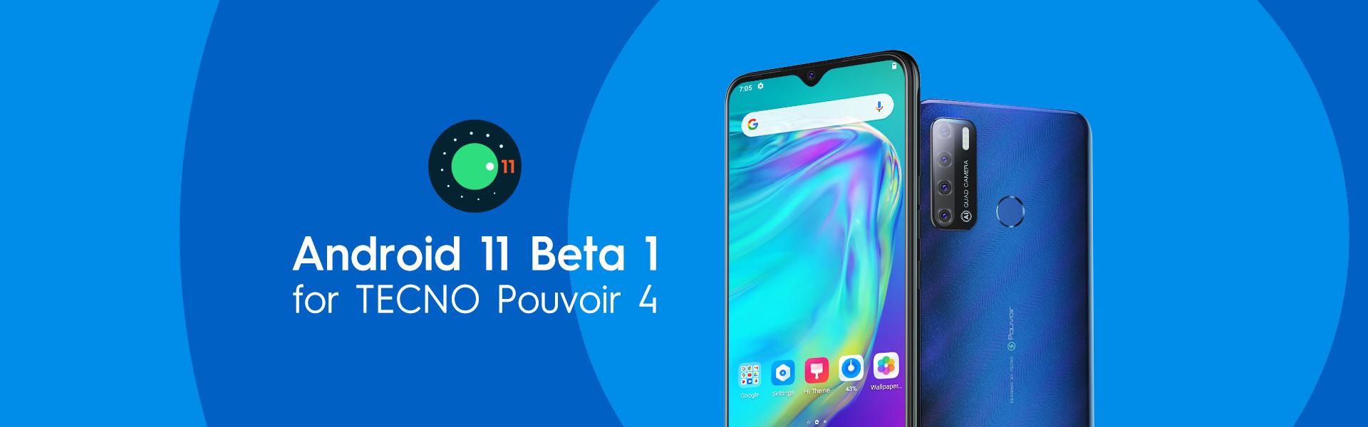 TECNO Pouvoir 4 MediaTek Helio A22 Android 11 Beta 1