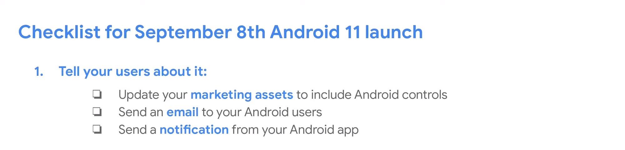 Android 11 - zakładana data premiery