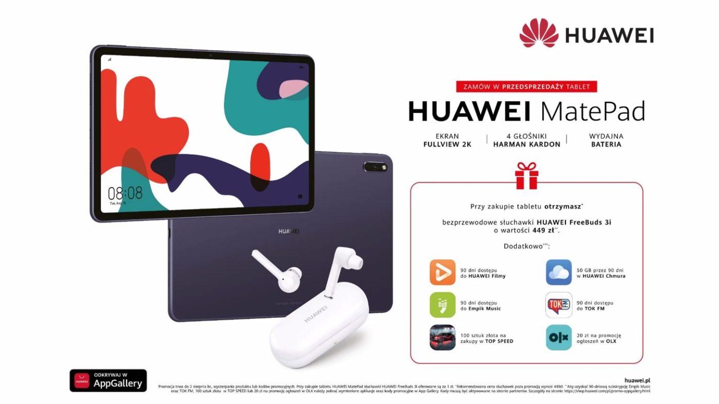 Huawei MatePad przedsprzedaż oferta promocja