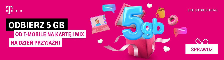 T-Mobile 5 GB internetu za darmo Dzień Przyjaźni