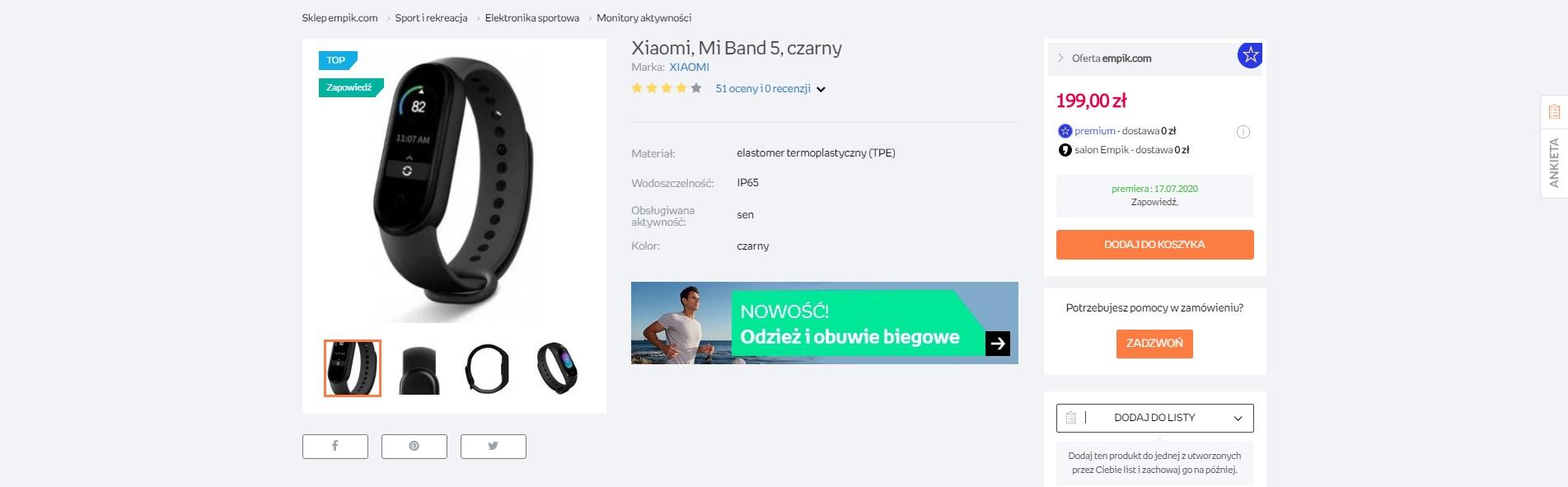 Xiaomi Mi Band 5 Empik