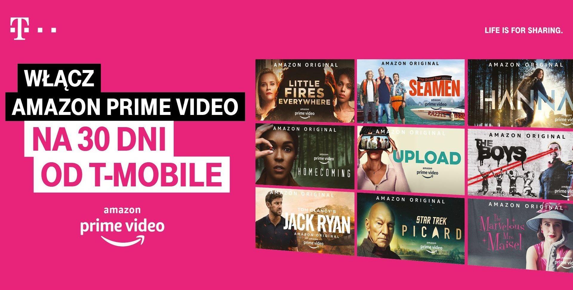 Miesiąc darmowego Amazon Prime Video oraz zniżka na zakup smartfona dla klientów T-Mobile 19