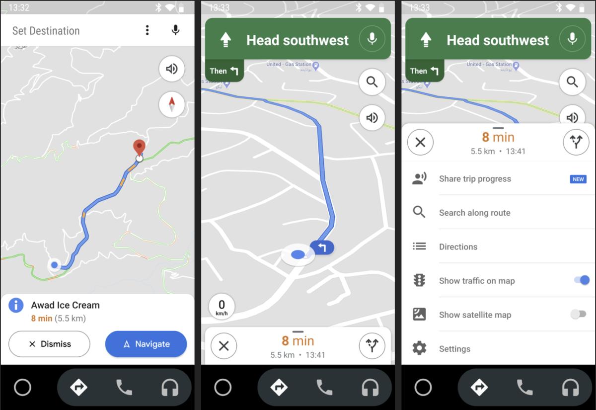 Android Auto – nieoczekiwana aktualizacja interfejsu w Mapach Google
