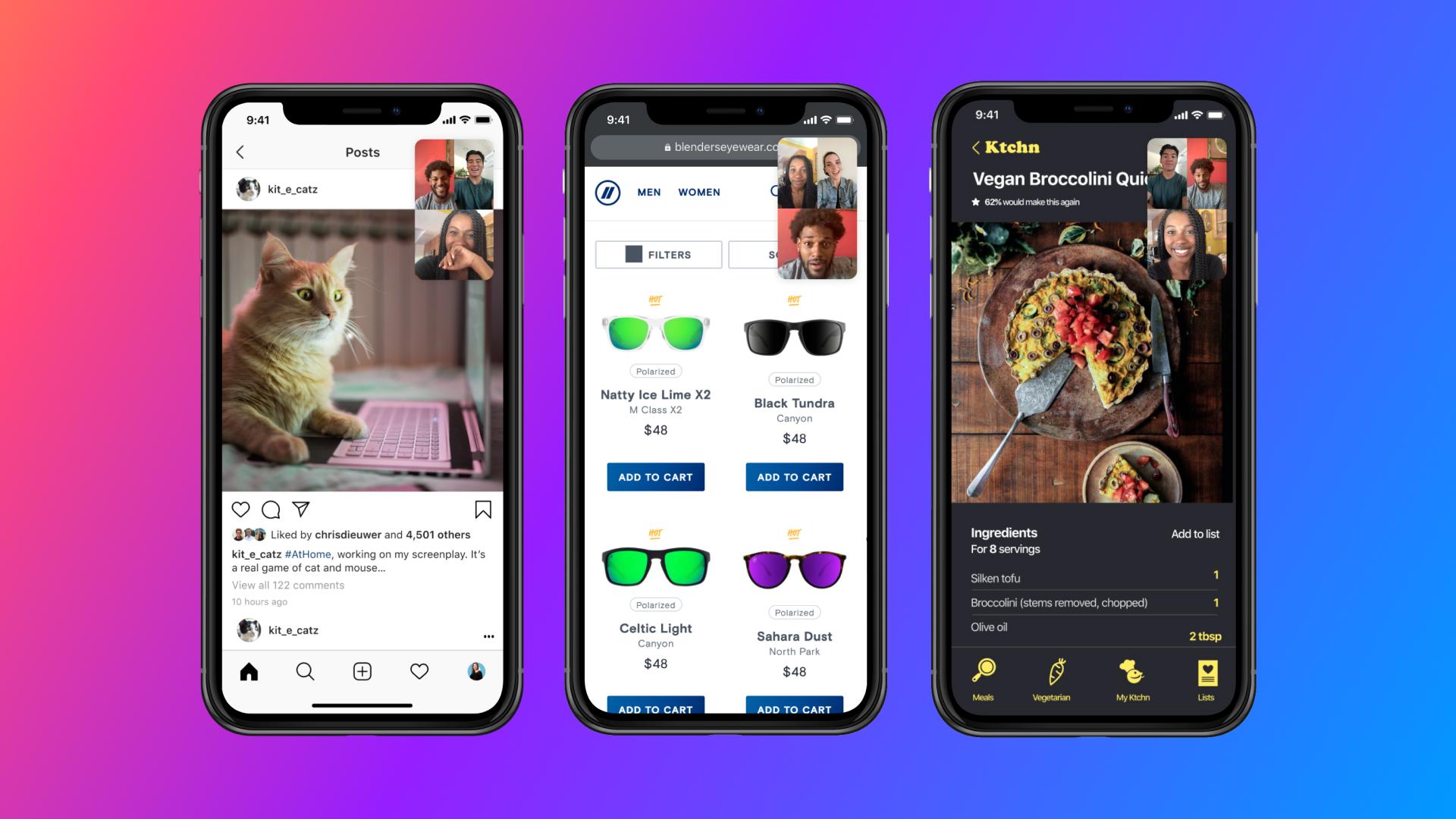 Messenger z funkcją udostępniania ekranu