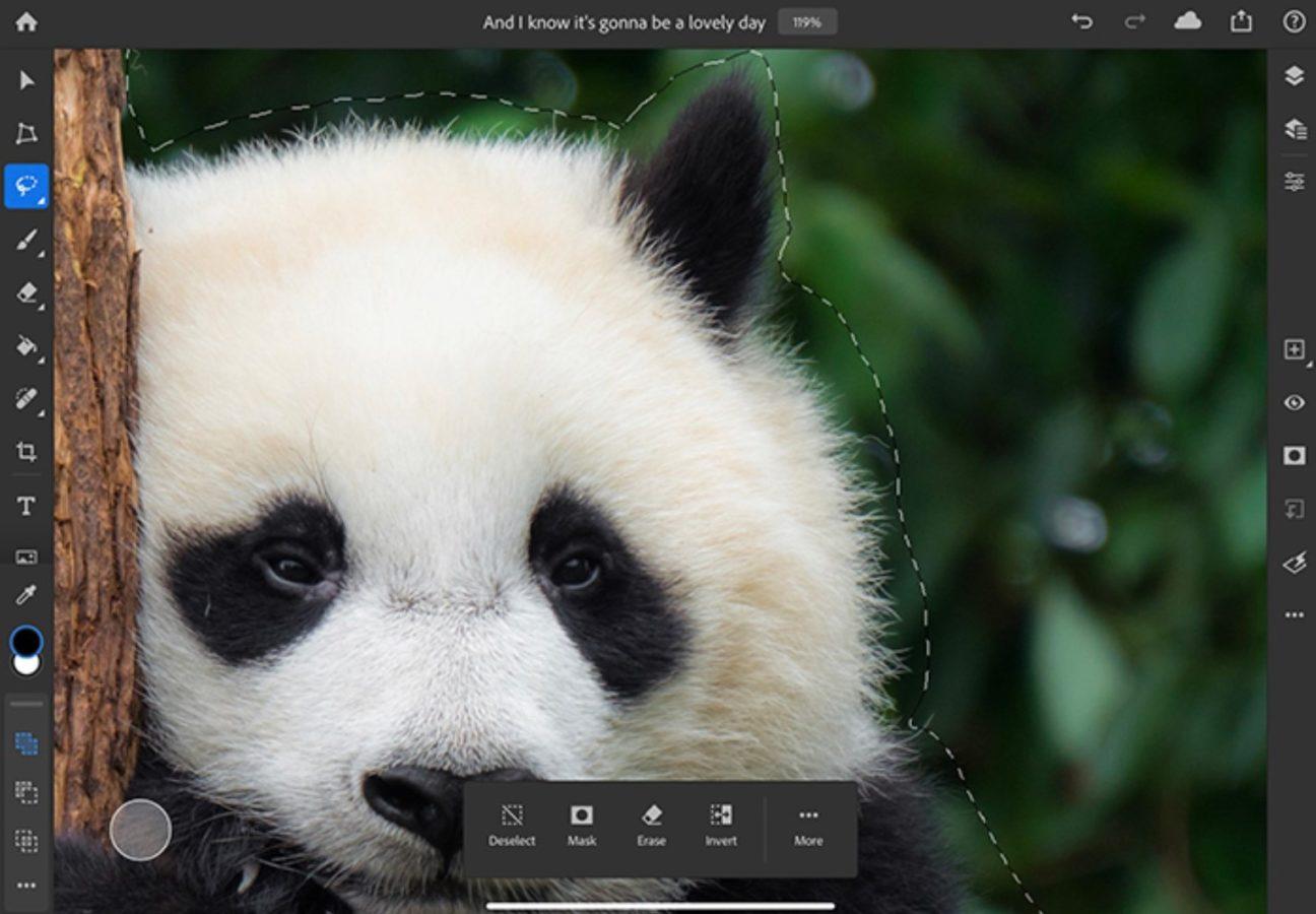 Photoshop na iPady zyskuje parę nowych opcji. Dosłownie, dwie 20